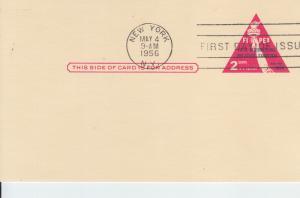 1956 FIPEX Exhibit Post Card (Scott UX44) FDOI