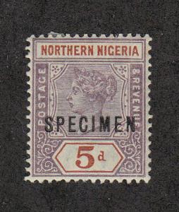 Northern Nigeria Scott #SG6 Specimen Ovpt MH