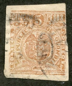 Colombia, Scott #221, Used