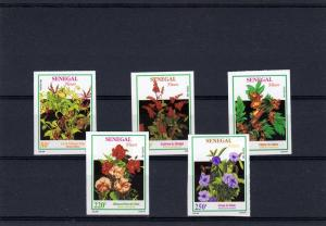 Senegal 1994 Flowers set (5) IMPERF.MNH Mi.# 1260-A1263 rare