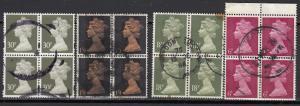 Great Britain - 1970/2010 Machins block of four - (839)
