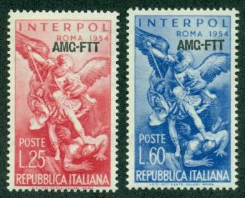 Trieste #207-208  Mint  F-VF NH  Scott $4.00  Interpol