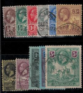 Barbados 1912 SC 116-126 Used Set SVC 308.00