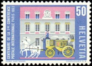Switzerland #422-427, Complete Set(6), 1963, Never Hinged