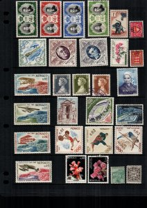 Monaco  28  diff used and mint lot collection
