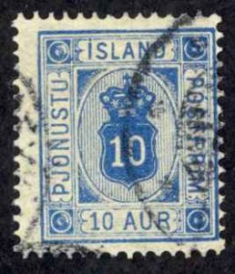 Iceland Sc# O6 Used (a) 1876-1895 10a Official