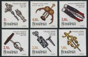 HERRICKSTAMP NEW ISSUES ROMANIA Sc.# 5863-68 Collections 2016 - Corkscrews