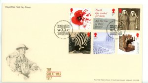 Great Britain 2017 FDC  Great War 1917 Women's Army Auxiliary Corps Cancel Sc...