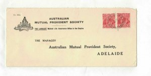 APH1494) Australia 2d Red KGV Die III Long Advertising Cover