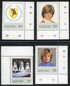 Lesotho Scott 372-75 MVFNHOG - 1982 Princess Diana Issue - SCV $4.95