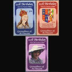 Grenadines St. Vincent MNH 243-5 21st Birthday Princess Diana