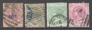 CEYLON COLLECTION LOT VALUES TO $30 YOU IDENTIFY AND GRADE $$$$$$$