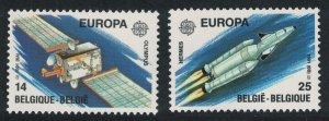Belgium Europa Europe in Space 2v SG#3055-3056