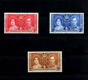 BECHUANALAND - 1937 - KG VI - CORONATION ISSUE - MINT - MNH - SET OF 3!
