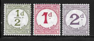Bechuanaland Protectorate J4-J6: Numerals, MH, F-VF