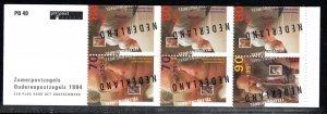Netherlands Scott # B682b, mint nh, cpl. stamp booklet,  se-tenant