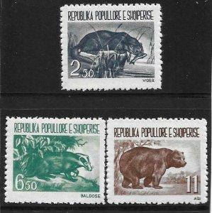 1961  ALBANIA  -  SG.  673 / 675  -  FAUNA   -  UMM