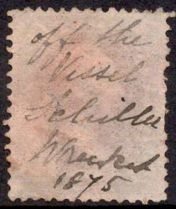 US Stamp #162 12c Dull Violet Clay USED SCV $135. Read Description.