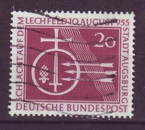 J24063 JLstamps 1955 germany used #732 orb and symbols