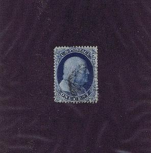 SC# 19b VAR CURL IN C POSITION 96R4 USED 1c FRANKLIN, 1857, DOPORTO & PF CERTS