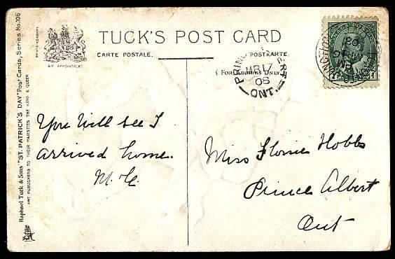 Canada #11369 - 1c KEVII on postcard - York County - Toronto Junction, Ont