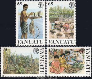 Vanuatu Scott 489-492 Mint never hinged.