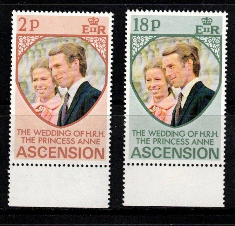 ASCENSION Scott # 177-8 MNH - Princess Anne Wedding