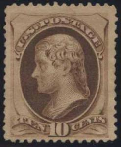 US Scott #187 Mint, VF, No Gum