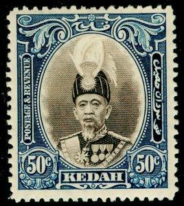 MALAYSIA - Kedah SG65, 50c brown & blue, LH MINT. Cat £15.