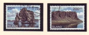 Iceland Sc 713-4 1990 Landscapes stamp set used