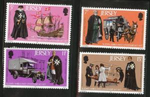 Jersey Scott 175-8 MNH** 1977 St. John Ambulance set