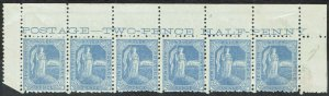 NEW SOUTH WALES 1890 AUSTRALIA 21/2D MNH ** STRIP PERF 11 X 12