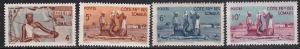 1947 French Somali Coast Scott 260-263 Somali Villagers MNH