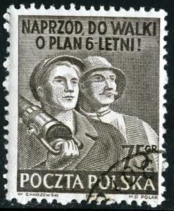 POLAND - SC #508 - Used - 1951 - Item Poland090