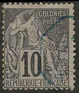 French Colonies 50 Used Ave, cr, pencil notes