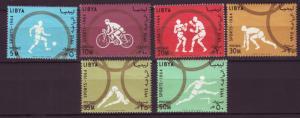 J19881 Jlstamps 1964 libya set mh #258-63 sports