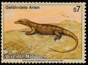 United Nations Endangered Species Wustenwaran s7 single MNH 1993