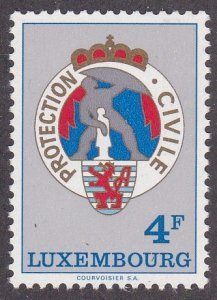 Luxembourg #  565, Civil Defense Emblem, LH, 1/3 Cat