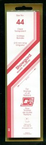 CLEAR Showgard Strip Mounts Size 44 = 44mm Fresh New Stock Unopened CLEAR