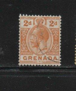 GRENADA #81  1913  2p  KING GEORGE V       F-VF  USED  g