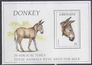 1995 Grenada 2910/B391 Donkey 7,50 €