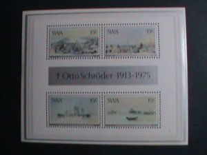 S.W. AFRICA-1975  OTTO SCHRODER-PAINTING MNH S/S SHEET-VERY FINE