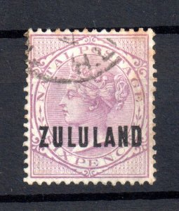 Zululand 1893 6d dull purple good used SG#16 WS16513