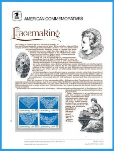 USPS COMMEMORATIVE PANEL #302 LACEMAKING #2351-54