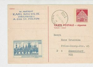 Germany 1968 St. Polten Cancel Cinderella Prague Exhibition Stamps Card Rf 29266