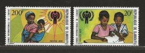 DJIBOUTI SC# 489-90   FVF/MNH