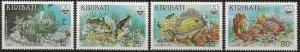 Kiribati 432-435 m Dollar Special.