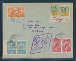 DOX BRAZIL FLIGHT COVER 1931 EUROPE - AMERICA FLIGHT BU6508