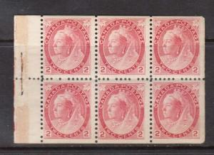 Canada #77b NH Mint Booklet Pane