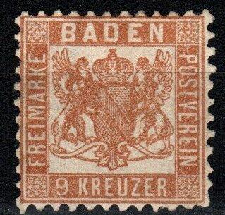 Baden #23 Unused CV $16.00 (X8386)